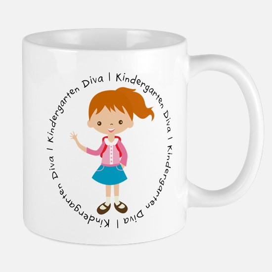 Cute Girl Kindergarten Diva Mug