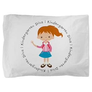 Cute Girl Kindergarten Diva Pillow Sham