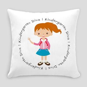 Cute Girl Kindergarten Diva Everyday Pillow