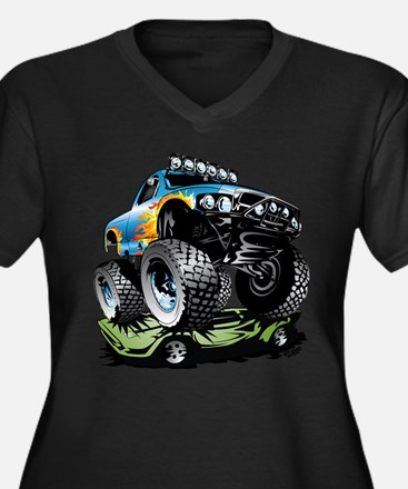 Monster Race Truck Crush Plus Size T-Shirt