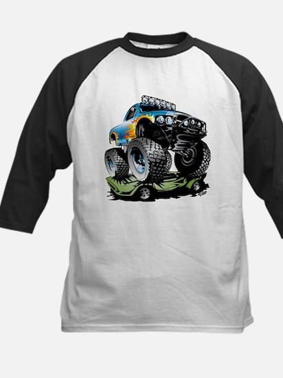 Monster Race Truck Crush Baseball Jersey