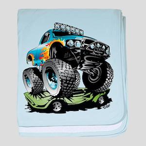 Monster Race Truck Crush baby blanket