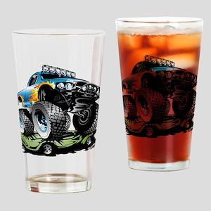 Monster Race Truck Crush Drinking Glass