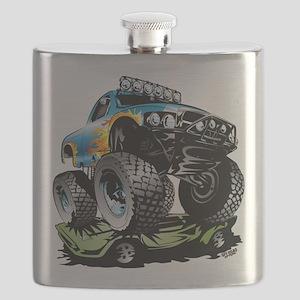 Monster Race Truck Crush Flask