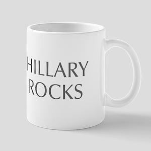 Hillary Rocks-Opt gray 550 Mugs