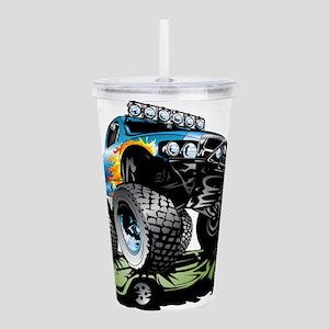 Monster Race Truck Cru Acrylic Double-wall Tumbler