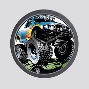 Monster Race Truck Crush Wall Clock