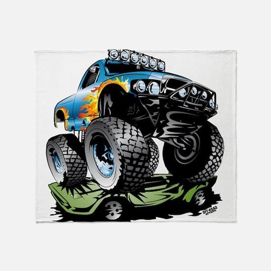Monster Race Truck Crush Throw Blanket