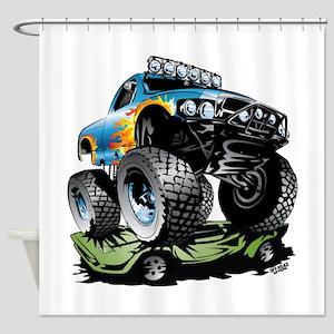 Monster Race Truck Crush Shower Curtain