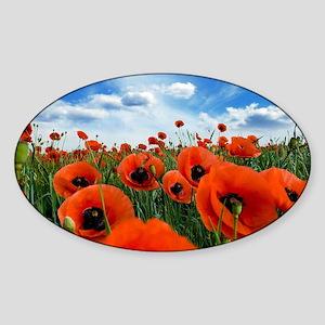 Poppy Flowers Field Sticker