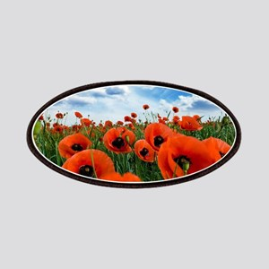 Poppy Flowers Field Patch