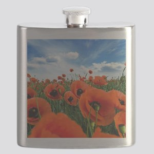 Poppy Flowers Field Flask