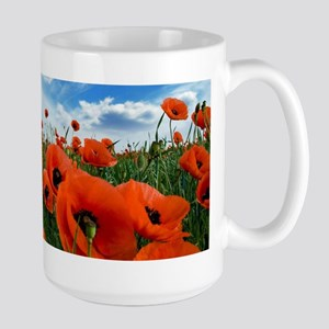 Poppy Flowers Field Mugs