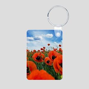 Poppy Flowers Field Keychains