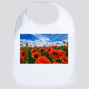 Poppy Flowers Field Bib