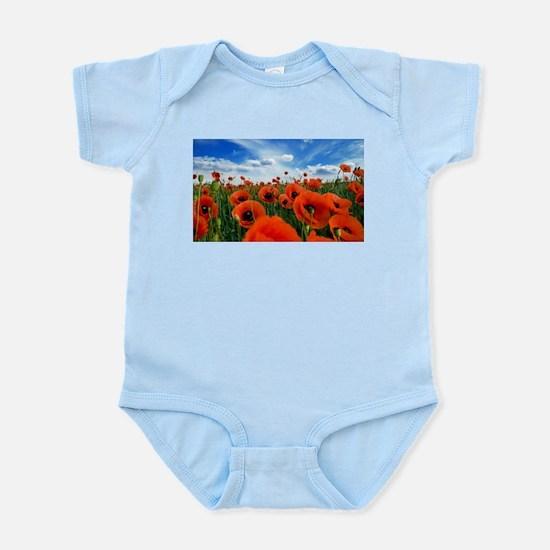 Poppy Flowers Field Body Suit