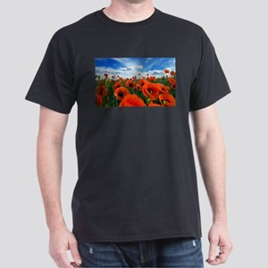 Poppy Flowers Field T-Shirt