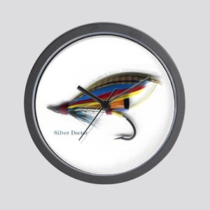 'Silver Doctor Salmon Fly'  Wall Clock
