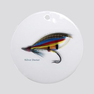 'Silver Doctor Salmon Fly'  Ornament (Round)