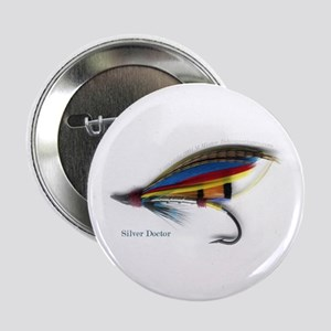 "'Silver Doctor Salmon Fly' 2.25"" Button (10 pack)"