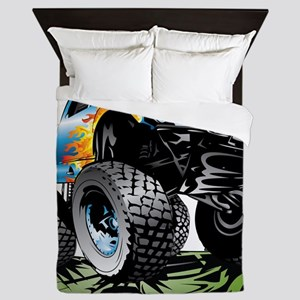 Monster Race Truck Crush Queen Duvet