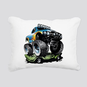 Monster Race Truck Crush Rectangular Canvas Pillow