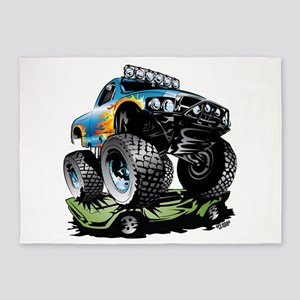 Monster Race Truck Crush 5'x7'Area Rug