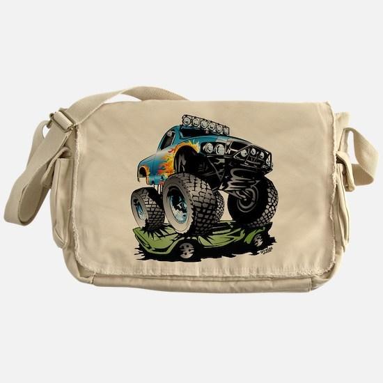 Monster Race Truck Crush Messenger Bag