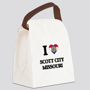 I love Scott City Missouri Canvas Lunch Bag