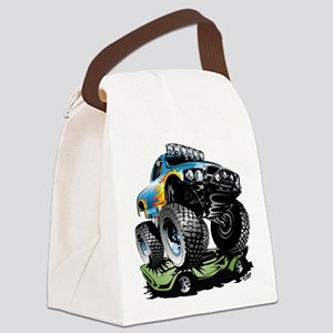 Monster Race Truck Crush Canvas Lunch Bag