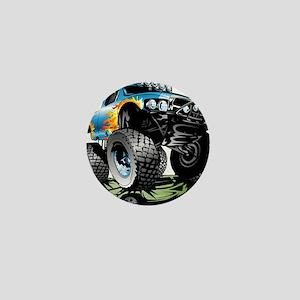 Monster Race Truck Crush Mini Button