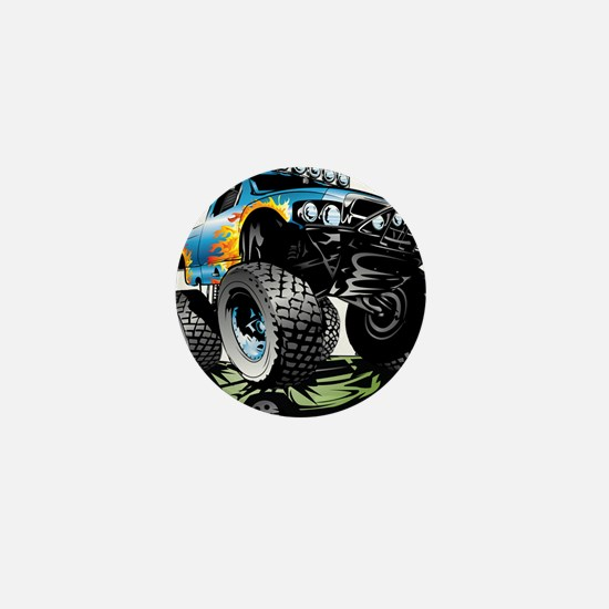 Monster Race Truck Crush Mini Button
