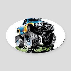 Monster Race Truck Crush Oval Car Magnet