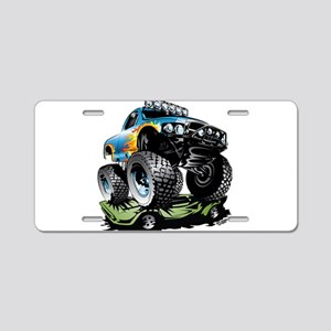 Monster Race Truck Crush Aluminum License Plate