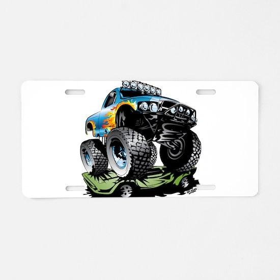 Monster Race Truck Crush Aluminum License Plate