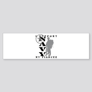 I Support Fiancee 2 - NAVY Bumper Sticker