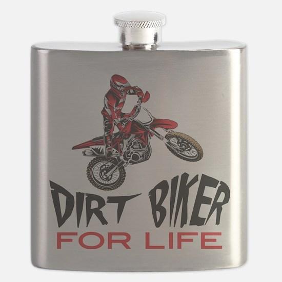 Motocross Biker For Life Flask