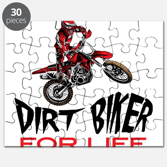 Motocross Biker For Life Puzzle
