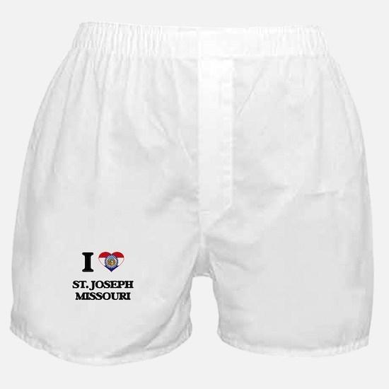 I love St. Joseph Missouri Boxer Shorts