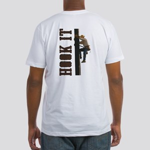 Lineman Hooks Fitted T-Shirt