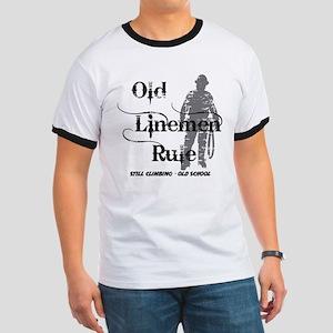 Old Linemen Rule Ringer T