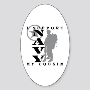 I Support Cousin 2 - NAVY Oval Sticker