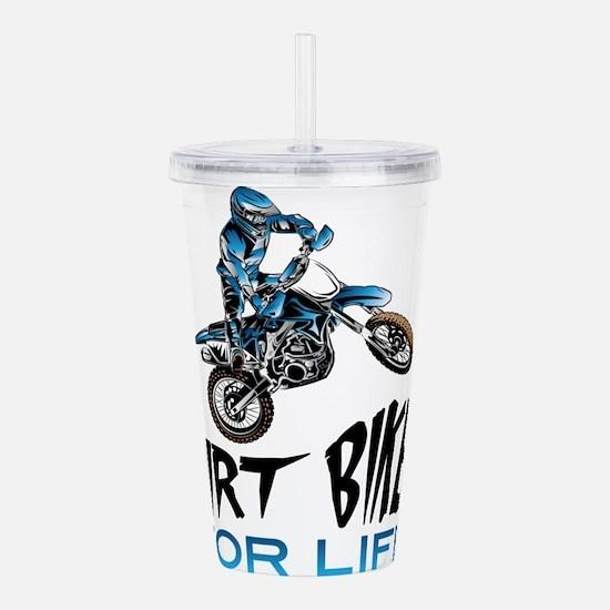Dirt Biker For Life Acrylic Double-wall Tumbler