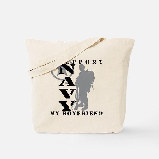 I Support Boyfriend 2 - NAVY  Tote Bag
