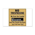No Tresspassing 20x12 Wall Decal