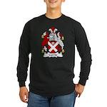 Currie Family Crest Long Sleeve Dark T-Shirt