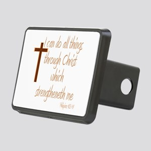 Philippians 4 13 Brown Cro Rectangular Hitch Cover