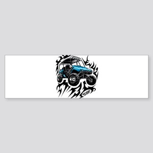 UTV Side-X-Side Flame On Bumper Sticker