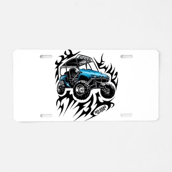 UTV Side-X-Side Flame On Aluminum License Plate