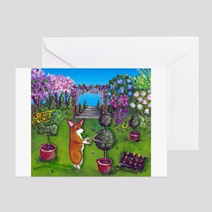 Corgi Master Gardener Greeting Card